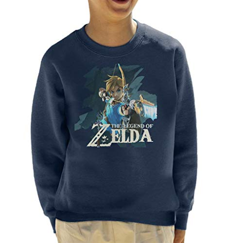 Zelda Breath of The Wild Link Bow and Arrow Kid's Sweatshirt