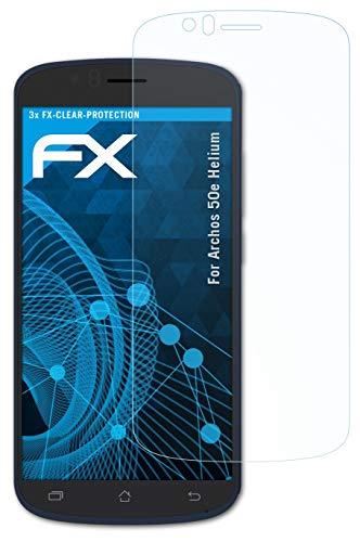 atFolix Schutzfolie kompatibel mit Archos 50e Helium Folie, ultraklare FX Bildschirmschutzfolie (3X)