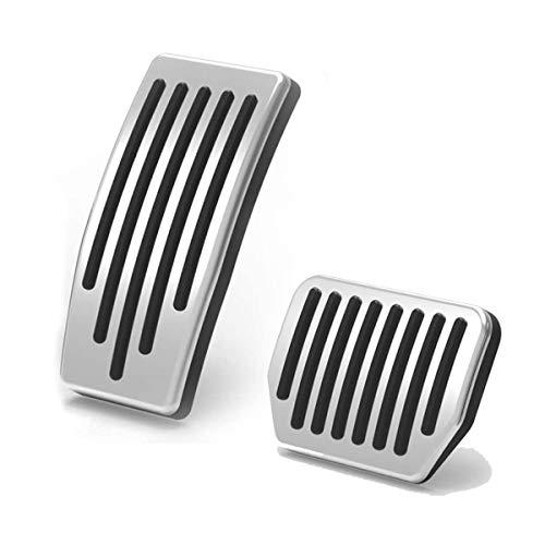 topfit Model 3 Pedales Cubiertas Almohadillas de pedal antideslizantes Almohadillas protectoras del pedal de freno de aluminio para el Model 3