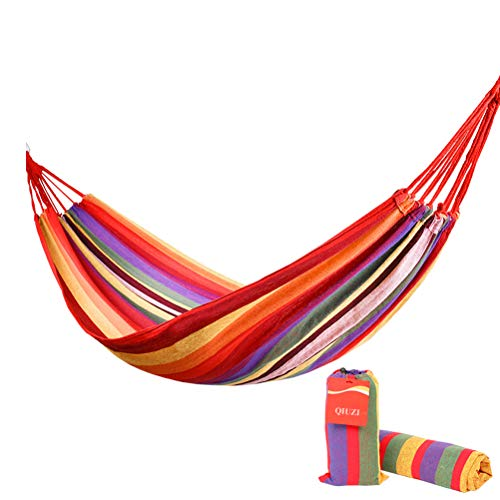 QIUZI Outdoor Hammock, Portable with Carrying Bag, Multiples Load Capacity Up to 450 Lbs,for Patio Yard Garden