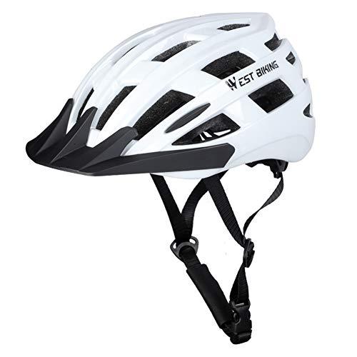 Everpertuk West Biking Cycling Bicycle Helmet In-Mold MTB Bike Men Women Mountain Road Outdoor Sports Breathable Safety Cap (Weiß M)