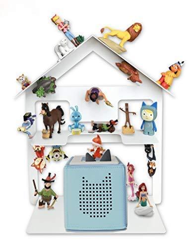 Tonie Box Regal, Regal für Kinder Sammelset Haus - Tonie Toniebox Zubehör - Geeignet für über 32 Tonies - Magnetisch beliebig fixierbar in anthrazit-grau (Weiß)