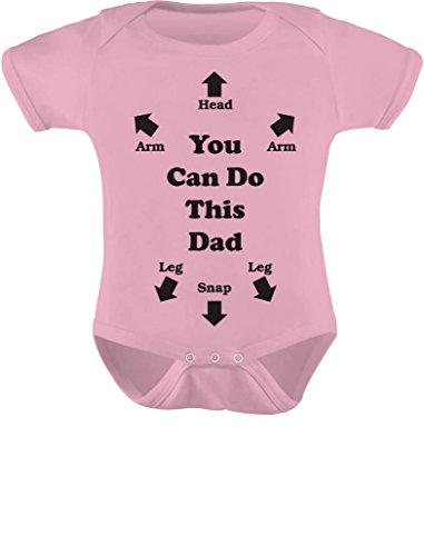 Tstars You Can Do This Dad Outfit Funny Gift for New Dads Cute Baby Boy Girl Bodysuit NB (0-3M) Pink