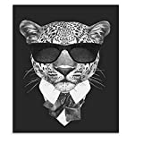 zgmtj Moda Mafia en Blanco y Negro Hipster Animales Perro Gato Carteles Impresiones Vintage Nordic Arte de la Pared Fotos Decoración para el hogar Pintura de la Lona