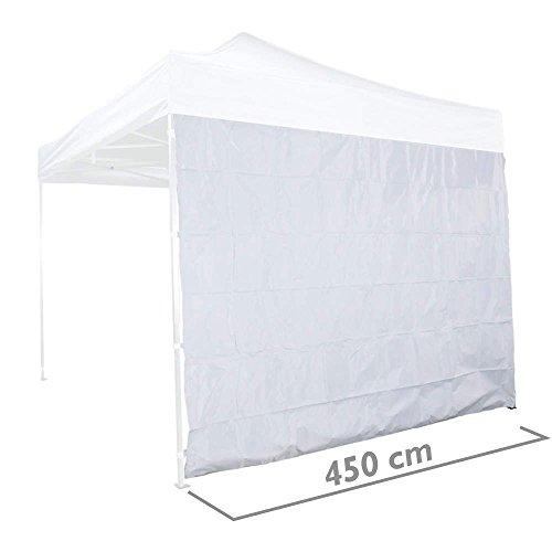 Cablematic - Lona lateral para carpa tipo completa blanca de 450cm
