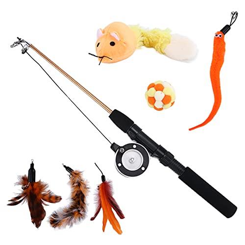 KASD Kätzchenspielzeug, Katzenspielzeug Interaktiv Praktisch Interaktiv Verschiedene Arten für Indoor-Kätzchen