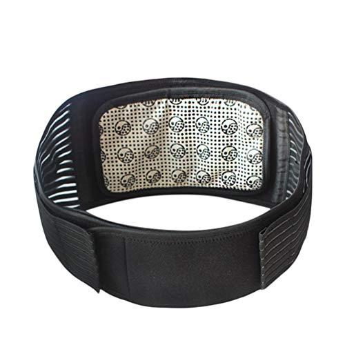 Healifty Ceinture lombaire magnétique réglable, soutien thérapeutique, coussinets chauffants, pour femme et homme, taille XL (noir)