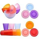 Plastic Dinnerware Unbreakable Plastic Tumblers, Bowls & Plates Dinnerware Set | Set of 18 in 6...