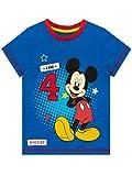 Disney Camiseta para Niños Mickey Mouse Azul 3-4 Años