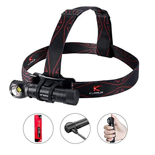 Klarus HA2C 3200 Lumen Cree LED Stirnlampe, USB wiederaufladbare multifunktionale L-Winkel Werkzeugleuchte mit magnetischem Ende für Camping im Freien Wandern Laufen Arbeiten