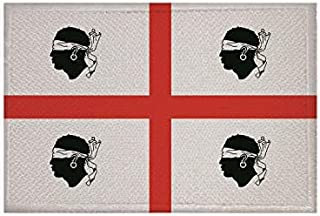U24 Aufnäher Sardinien alt Fahne Flagge Aufbügler Patch 9 x 6 cm