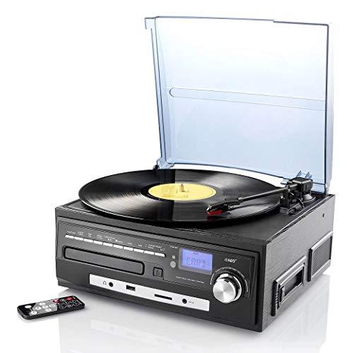 auvisio Schallplatten Anlage: Kompakt-Stereoanlage MHX-550.LP für Schallplatte, CD, MC, MP3 (Plattenspieler CD Kassette Radio)