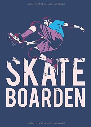 Skateboarden: Kleines Skater Skateboard Freestyle Notizbuch | Skizzenbuch | Zeichenbuch | Malbuch A6, blanko. Nachhaltig & klimaneutral.