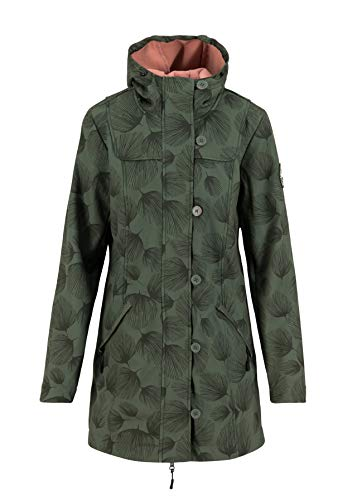 Blutsgeschwister Damen Wild Weather Parka, Whispering Leaves, XS