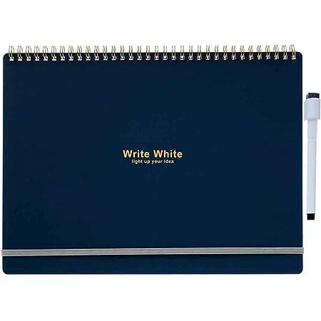 学研ステイフル ホワイトボード ノート Write White A4 ネイビー D15041