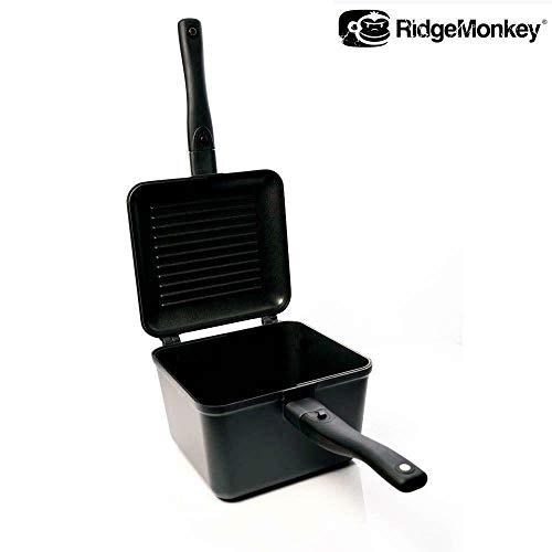 Ridgemonkey Connect Mehrzweck-Pfanne und Grillrost, für Grobfischangeln