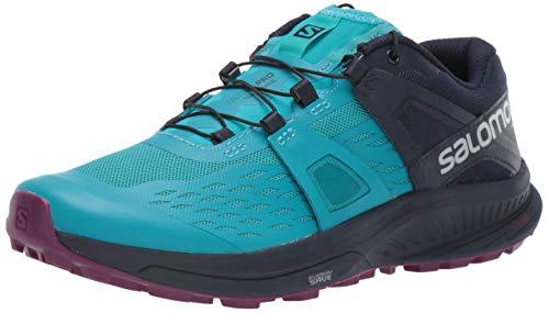 Salomon Women's Ultra Pro Trail Running Shoes, TILE BLUE/Navy Blazer/Dark Purple, 10