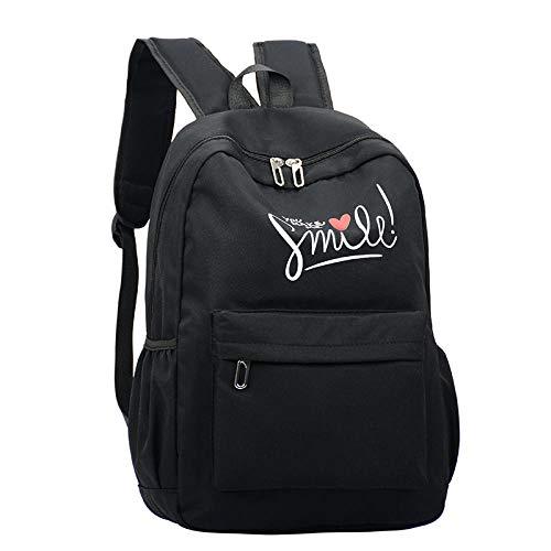 Style Fashion Women School Bag Brand Travel Backpack for Girls Teenagers Stylish Laptop Bag Rucksack Girl Schoolbag Black