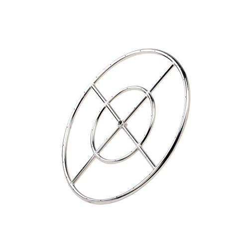 Stanbroil 18' Round Fire Pit Burner Ring, 304 Series Stainless Steel, BTU 147,000 Max