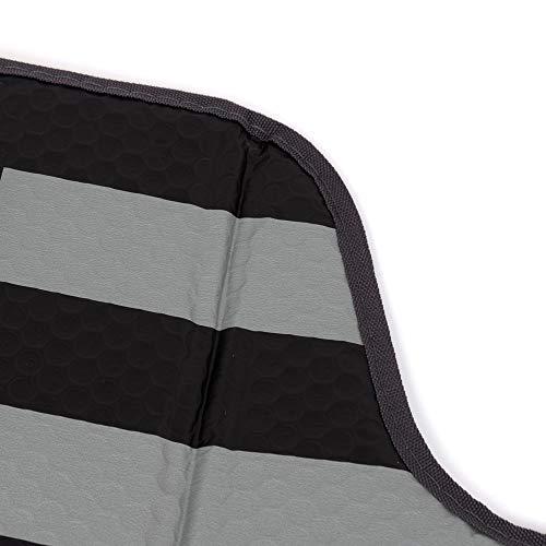 Black White/Gray American Flag - Front Windshield Sun S   hade - Accordion Folding Auto Sunshade for Car Truck SUV - Blocks UV Rays Sun Visor Protector - Keeps Your Vehicle Cool - 58 x 28 Inch