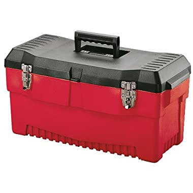 Stack-On PR-23 23-Inch Professional Multi-Purpose Plastic Tool Box, Red