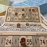 Naserbe Pack de 900 Cartones de Bingo Troquelados de 90 Bolas (gris y blanco)