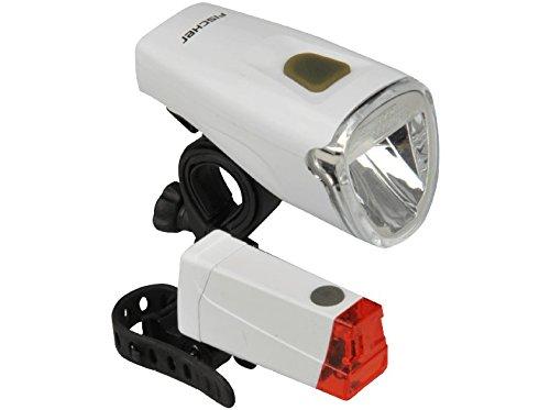 FISCHER Batterie LED Beleuchtungsset 10/20/40 Lux Universalhalterung | Beleuchtungsset | Leuchtenset | wiederaufladbar