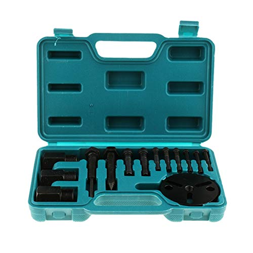 XIAOFANG Fangxia Store 14 Stück Klimaanlage A/C Kompressor Kupplung Remover Puller Installer-Tool (Color Name : Green)