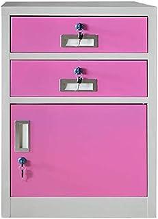 WHLONG Stockage de fichiers Armoires désassemblage avec Verrouillage Bureau Armoire de Rangement en métal Locker Protectio...