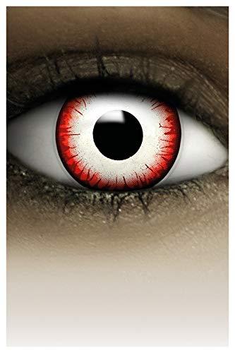 FXCONTACTS Lentes de contacto de Halloween de color, lentilla de motivo, 1 par, un solo uso sin receta, disfrazarse como un UNDEAD ZOMBIE