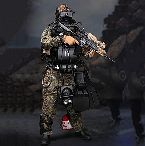 ZH Soldado Militar Figuras De Acción, 1/6 U.S. Marine Corps Camuflaje Estatua De Juguete, Coleccionables Modelo, Materiales De Protección Ambiental De PVC Juguetes Regalo para Navidad