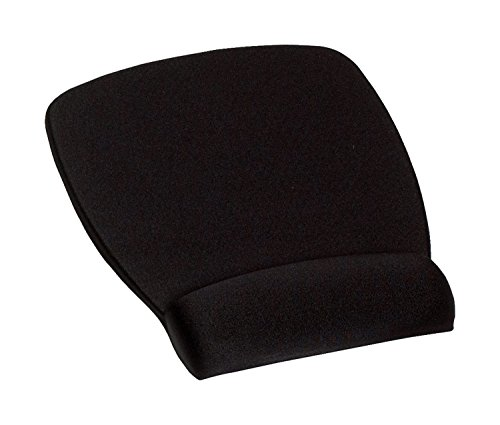 3M Foam Mouse Pad with Wrist Rest, Comfortable Support with Durable Fabric Cover with Anti-microbial Product Protection, Black (MW209MB)