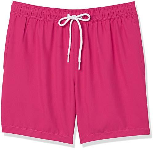Amazon Essentials Herren Badehose, Pink(hot pink), US XL (EU XL - XXL)