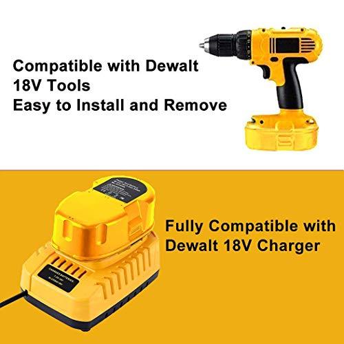 Product Image 3: 4000mAh Replacement for Dewalt 18V Battery XRP DC9096 DC9099 DC9098 DW9099 DW9098 388683-12 651034-01 DE9039 DE9095 DE9096 DE9098 DW9096 DW9095 Batteries 2 Packs