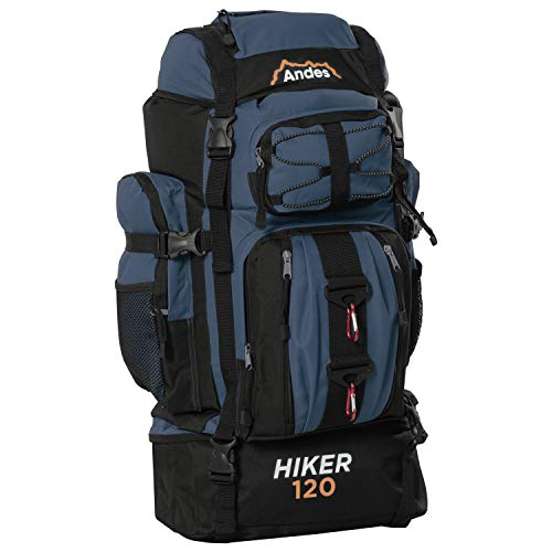 Adtrek Navy Blue 120L Hiker Backpack Extra Large Hiking/Camping Luggage Rucksack