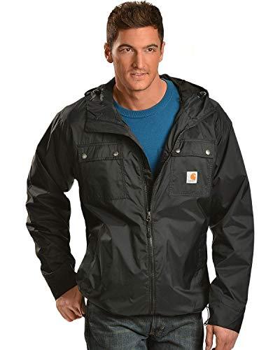 Carhartt Men's Rockford Rain Defender Jacket,Black,Large