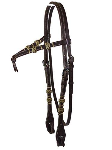 Western cabeza pieza FUTU rity con Rawhide, Thor Equine, color marrón oscuro, marrón oscuro, Pony