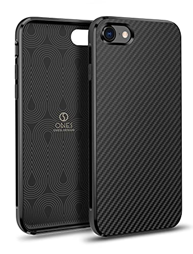 ONES 超薄型 iPhone SE/8/7 ケース 耐衝撃 超軍用規格 炭素繊維テクスチャ 『指紋防止、マット質感』〔カメラ保護、画面保護〕 衝撃吸収 滑り止め 軽量 カバー