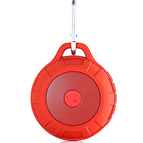 Altavoz Bluetooth impermeable para exteriores, 16 horas de reproducción Ranura para tarjeta TF Entrada de audio USB Altavoz portátil con sonido graves estéreo 3D, Senderismo Camping Altavoz Bluetoot