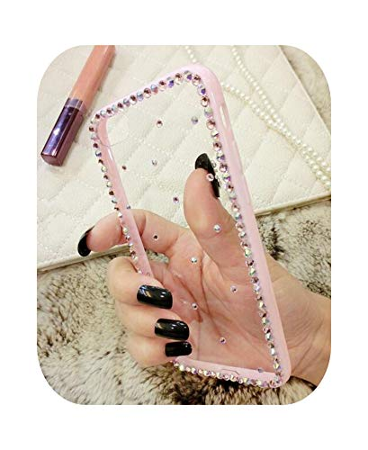 Henraly - Carcasa para iPhone 12 Mini 11 Pro XR XS Max, carcasa Luxury Bling Diamond Clear para iPhone 6 7 8 Plus de goma TPU de lujo para iPhone 12 Pro Max