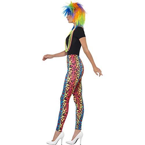 Smiffys Women's Neon Leopard Print Leggings