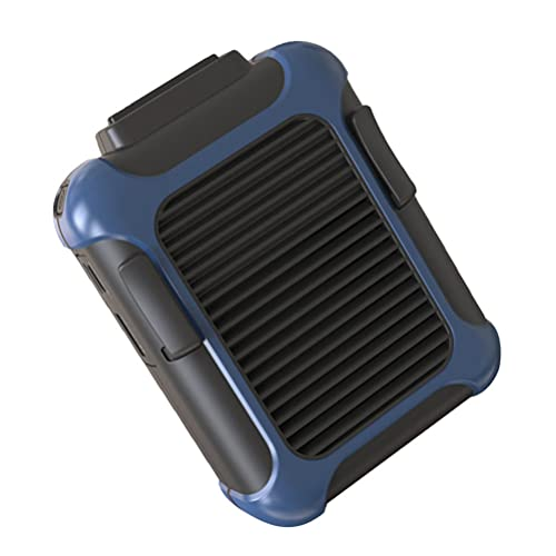 ABOOFAN Manos Libres Ventilador Clip en La Cintura Ventilador USB Cuello Ventilador Portátil Colgante Ventilador de Refrigeración para Verano Aire Libre