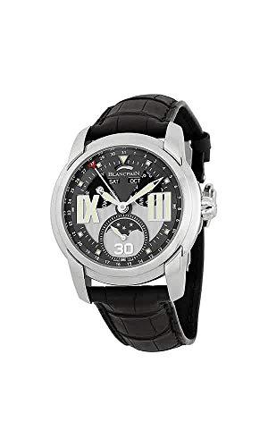 Blancpain L-Evolution Grey Dial Black Crocodile Leather Mens Watch 8866-1134-53B