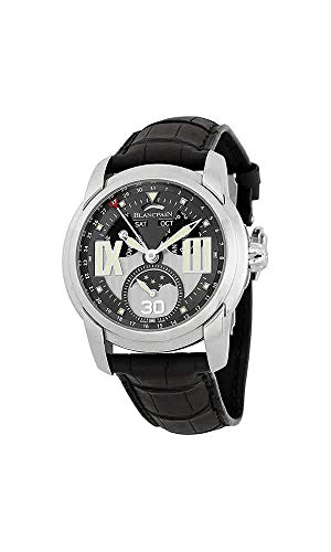 Blancpain L-Evolution Grey Dial Black Crocodile Leather Mens Watch 8866-1134-53B