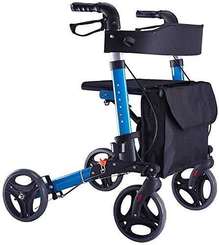 Ouderen lopen frame Licht bewegende trolley auto hulp Scooter Rollator vouwen winkelen Geschikt voor ouderen of mensen met een handicap Wiel