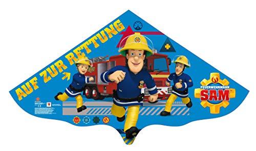 molinoRC Wunderschöner Feuerwehrmann Sam Drachen | Drache Sam 115x63cm | Herbstdrachen incl. Schnur | Kinderdrachen | Drachenflieger | Blitzversand BRD