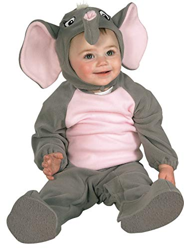 Rubies - Disfraz de elefante para niño, Talla bebé 6-12 meses