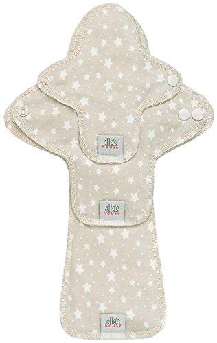 Moon Pads Trial-Set waschbare Slipeinlagen aus Bio-Baumwolle 3er-Set stars beige