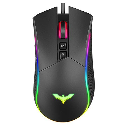 havit Ratón Gaming 7 Botones Mouse Gaming programables Ilum