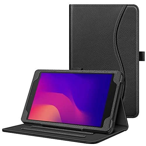Funda para Alcatel Joy Tab 2 Tablet 8' 2020 Release (Modelo: 9032Z) - [Manos libres] Funda con función atril para Alcatel Joy Tab 2 de 8' (negro)
